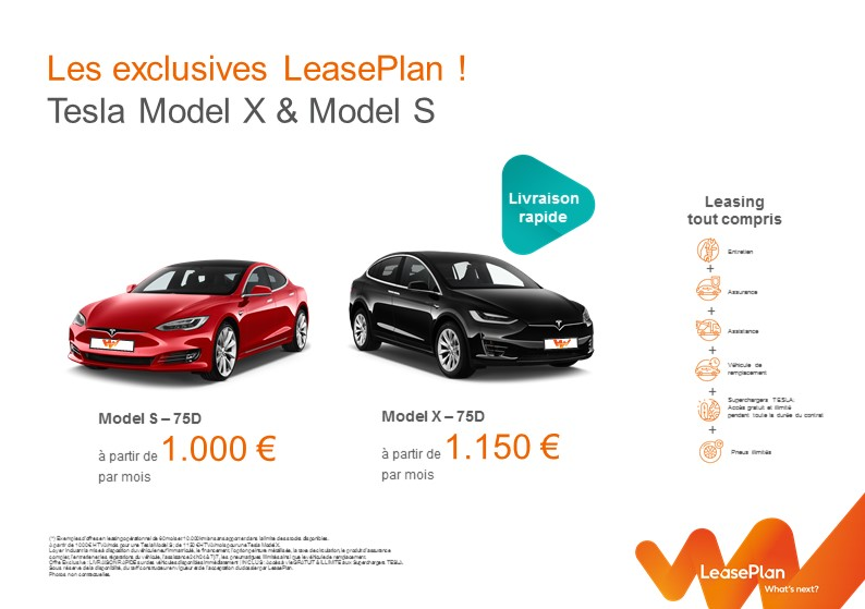 Les offres exclusives LeasePlan Tesla