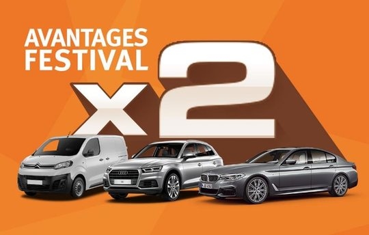Autofestival LeasePlan: doublez vos avantages !